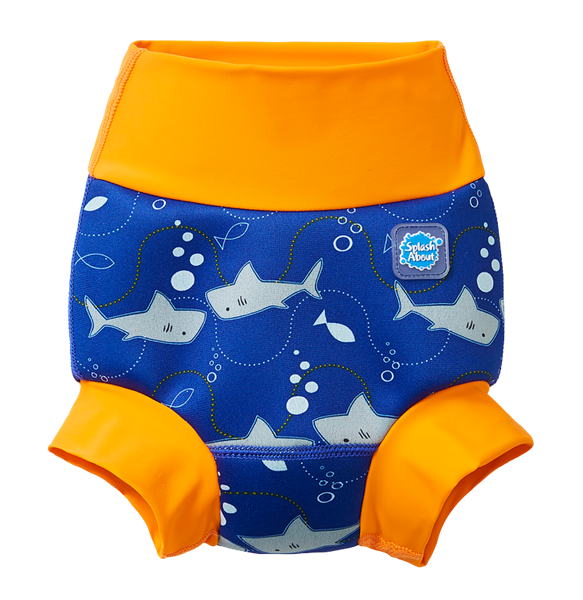 Happy Nappy Shark Orange