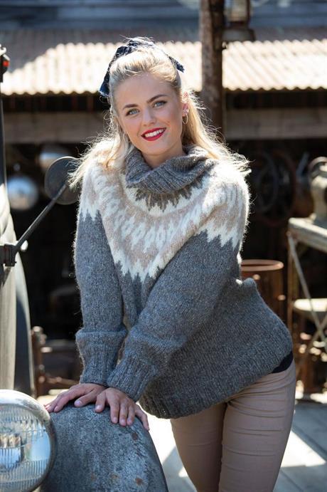 Genser strikket med det nye garnet Llama Soft fra Järbo Garn