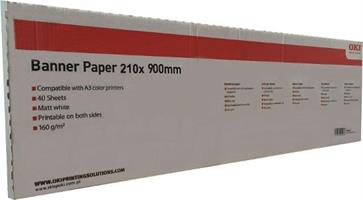 OKI A4 Banner paper 210x900mm 160g 40 sheets