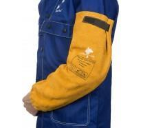 Armskydd i nötspaltläder Golden Brown (Par)