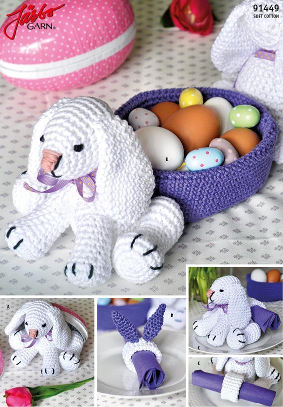 Virkad kanin till påsk i Soft Cotton