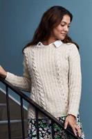 Sweater med flätor i Dagmar