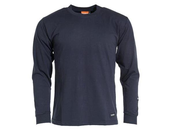 Tranemo Långärmad T-shirt, Marin, Flamskydd stl XS