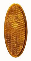 Reflex, gul, oval, självhäftande