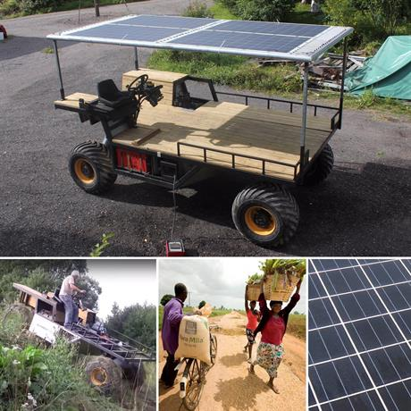 Multifunctional All Terrain Electrical Hybrid Vehicle for developing countries and disaster areas