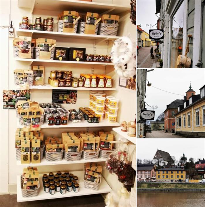 Porvoon vanhassa kaupungissa Nordicforyou.fi -tuotteita