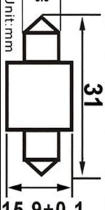 Spollampa SMD4 31mm