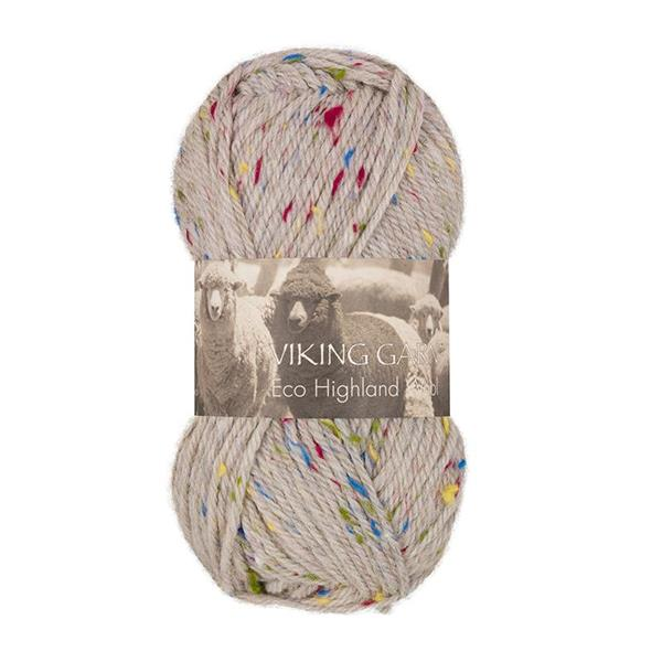 V Highland Eco Wool Tweed Beige