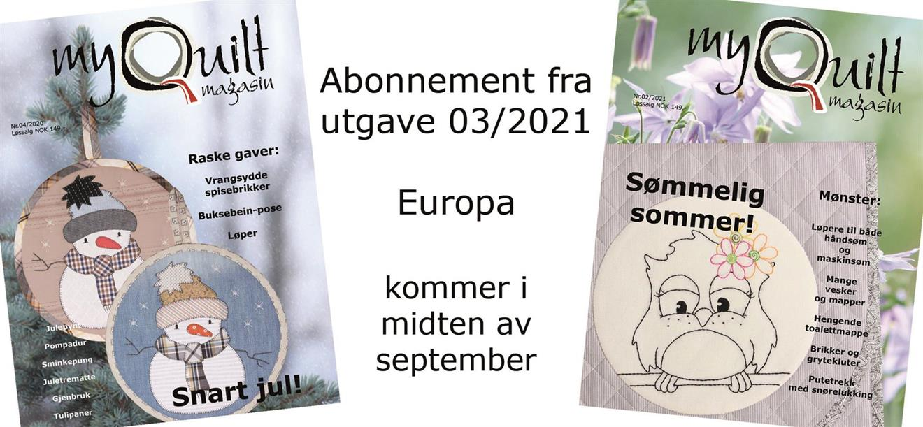 Abonnement-Europa fra utgave 3/2021
