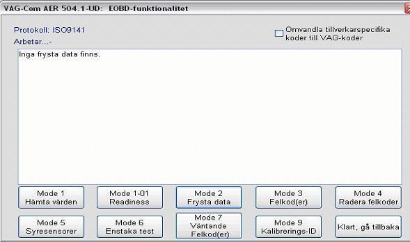 EOBD (OBD-II) i VCDS Mode 2