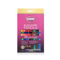 18kpl 2-päisiä kyniä. Yhteensä 36 eri väriä.