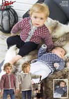 Babytröja och kofta  i Llama Silk