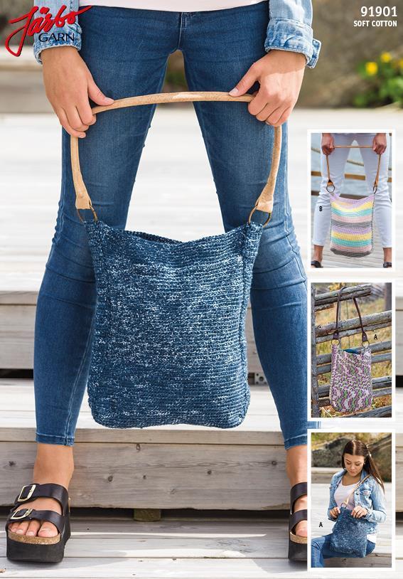 Virkad handväska i Soft Cotton