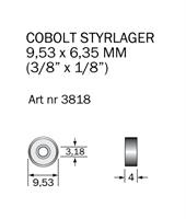 Kullager 9,53 x 3,18 mm