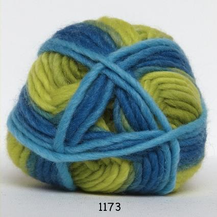 Kinna Textil Naturull print grön/blå/turkos