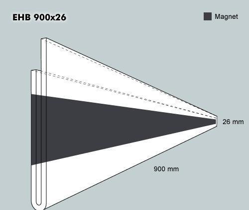 Etiketth. EHB 900-26F rak mag