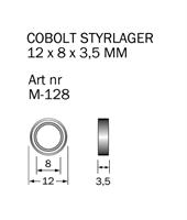 M-128 Kullager 12 x 8 x 3.5 mm