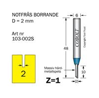 Notfräs D=2 L=10 TL=52 S=6 Z=1