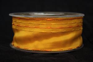 Band 40 mm 25m/r guldgul med tråd