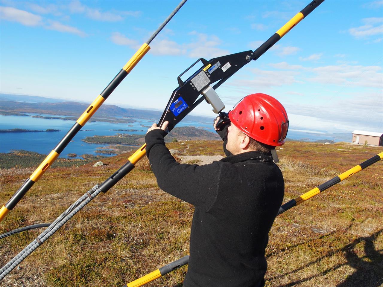 PIAB/Gigasense Staglinemätare, linkraftmätare, The PIAB Rope Tenson Meter RTM-D