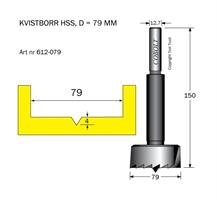 Kvistborr HSS D=79 TL=150 S=12.7