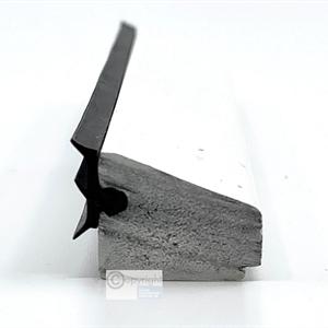 PVC glasslist 16x17 mm hvit m/tettelist - 250 cm
