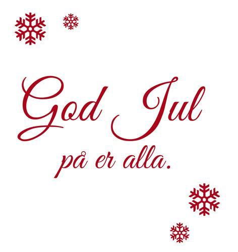 GOD JUL o GOTT NYTT ÅR
