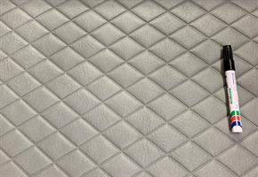 Konstläder svetsade rutor grå (07x1009)