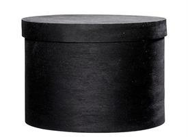 Hattbox svart D14cm H10cm
