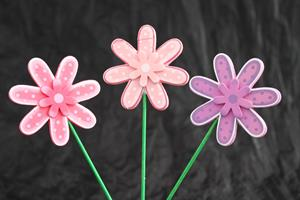 Blomma på pinne 3 stilar 18/fp