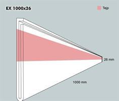Etiketth. EX 1000-26F rak tejp