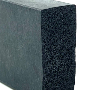 Firkantprofil 35x15 mm sort EPDM svamp - Løpemeter