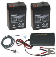 Batteri 2st 6volt-4,5Ah+Laddare+6volt kabel.Åtel MG883
