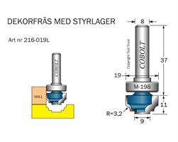 Dekorfräs m lager M-198