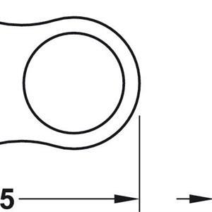 Dørstopper for håndtak - 2 stk