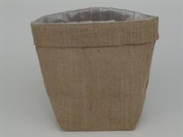 Jutesäck med plastfoder 16x16cm 12/fp