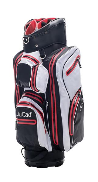JuCad Bag Aquastop, Svart / Vit / Röd