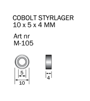 M-105 Kullager 10 x 5 x 4 mm