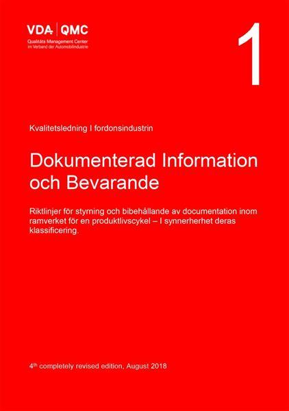 VDA Vol. 1 Dokumentation och bevarande