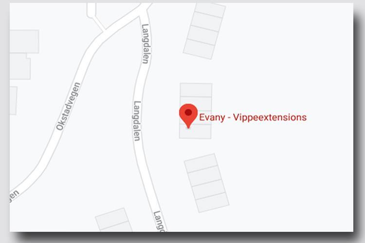 Kart Evany vippeextensions