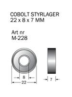M-228 Kullager 22 x 8 x 7 mm