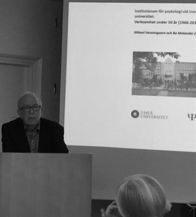 Bo Molander om institutionens historia