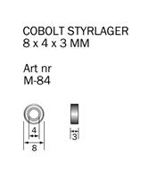 M-84 Kullager 8 x 4 x 3 mm