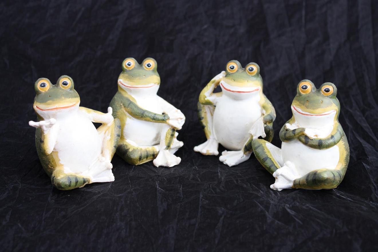 Groda grön/vit  4 olika stilar 4/fp