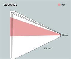Etiketth. EX 900-26F rak tejp