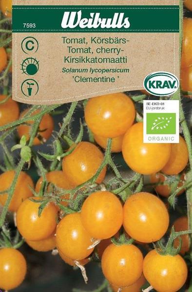 Tomat Körsbärs- 'Clementine' Krav Organic
