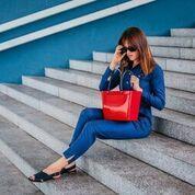 Hinza väska röd liten