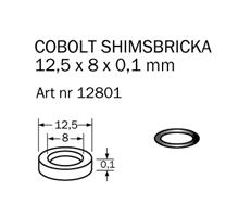 Shims-bricka 12,5 x 8 x 0,1 mm