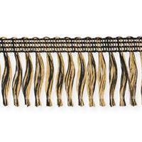 Kransbandsfrans med häfta guld/svart