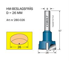 HM Beslagsfräs D=26 TL=57 S=8